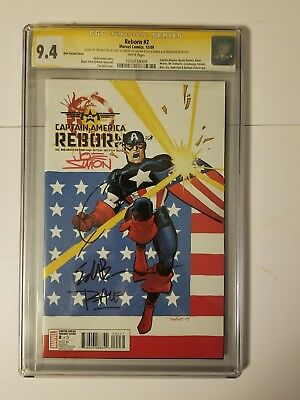 Reborn 2cgc 4x ss signed by Joe Simon, Quesada,Brubaker, Tim Sale