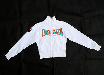 Lonsdale Boys Zip Cardigan Stretch Tracksuit Top Jacket White Top Casuals 8yrs