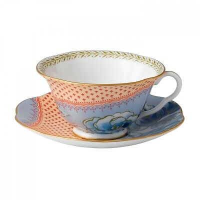 Wedgwood - Butterfly in Bloom - Tea Cup & Saucer Blue - RRP £45- New & Boxed
