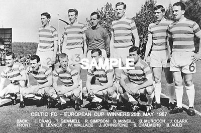 Celtic FC 1967 Cup Team Photo