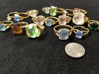 Estate vintage Lot of Jewelry  Rings with big stones