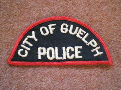 Obsolete Vintage City of Guelph (Ontario) Police Shoulder Title