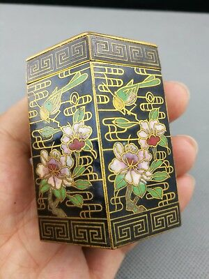 Impressive  19th/20th Antique Chinese Cloisonne Box -Marked- Highly collectable