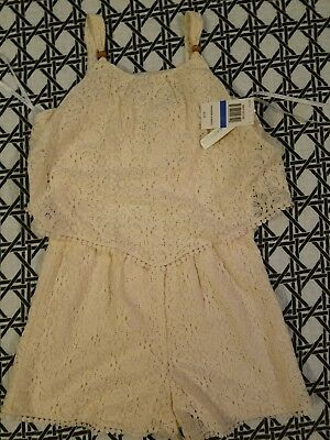 Sequin Hearts Girls Lace Romper! Size XL! NWT!