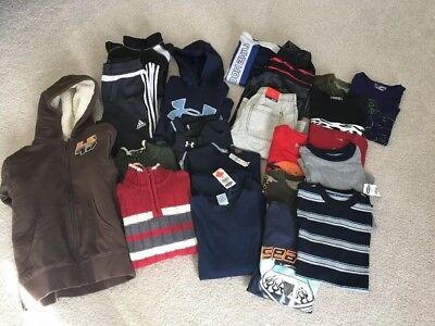 Lot of Boys Clothing - Size 8 & 10 - Under Armor, Nike, Adidas, Children's Place