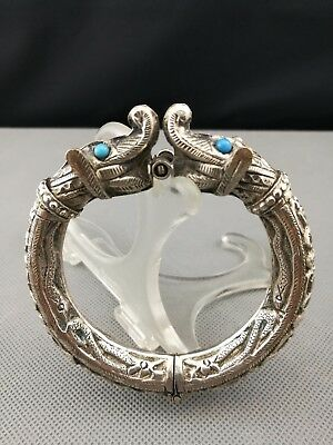 19th/ 20th  Antique Old Chinese / Tibetan Silver Bangle