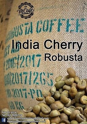 Green Coffee Beans - INDIA CHERRY (Robusta) - 1kg