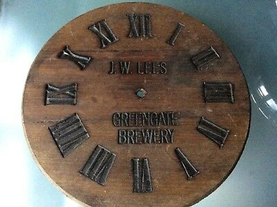Vintage Wooden Greengate Brewery Clock Face