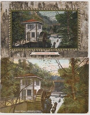Old Postcards Water Wheel Groudle Glen Isle of Man