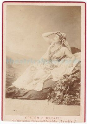 Opera. Amalie Materna as Kundry in Parsifal. 1882. Cabinet photo
