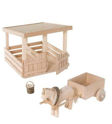 Natural Bark Woodland Stable and Accessories
