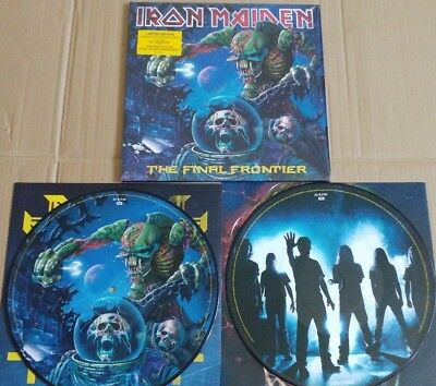 """Iron Maiden The Final Frontier 2 x 12"""" Picture Disc Vinyl Record LP"""