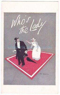 Who's The Lady. County Theatre, Reading. Advert postcard