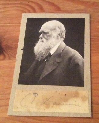 Very Rare genuine and authentic Charles Darwin signature with picture