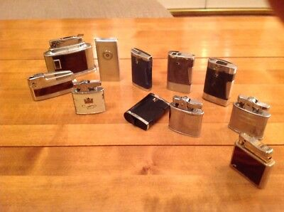 Collection of Vintage Lighters - Ronson, Colibri, Bride, Continental