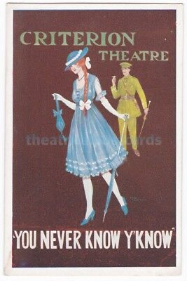 You Never Know Y'Know. Criterion Theatre. Advert postcard
