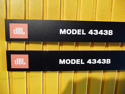 Pair JBL 4343B Front panel ( grill ) Labels ( 2Pcs )