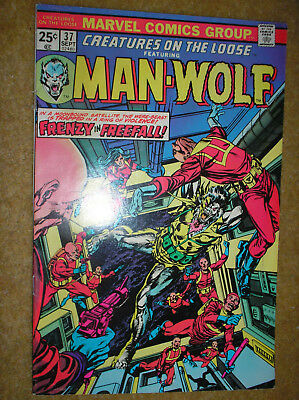 CREATURES ON THE LOOSE # 37 LAST ISSUE MAN-WOLF KANE PEREZ 25cMARVEL COMIC BOOK