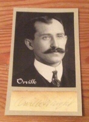 Very Rare genuine and authentic Oville Wright signature with picture