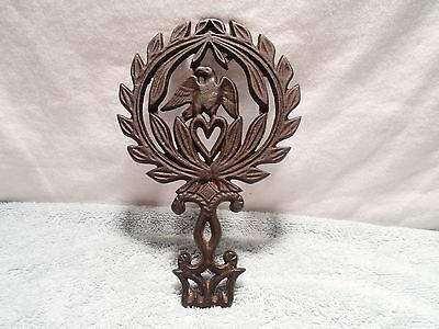 Cast Iron Footed Eagle Trivet # 118