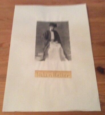 Very Rare genuine and authentic Helen Keller signature with picture