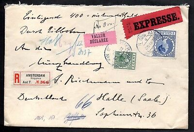 Netherlands - 1930 Registered Express Cover With Wax Seals on Reverse