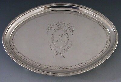 Rare Georgian Sterling Silver Goat Crested Teapot Stand 1797 English Antique