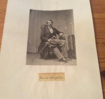 Very Rare genuine and authentic David Livingstone signature with picture