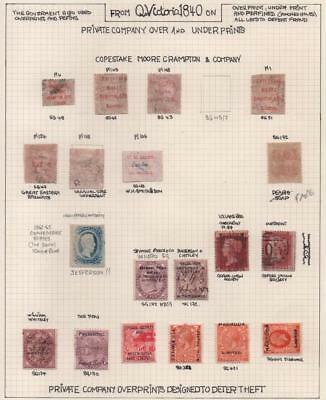 GB: Private Company Over/Underprints - Ex-Old Time Collection - Page (11361)
