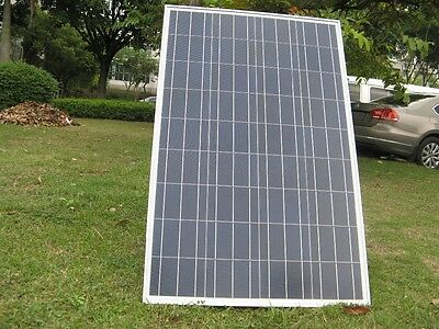 NEW 100W 12v Energy+ Solar Panel - Poly crystalline - MC4 Cables - TUV ISO UK