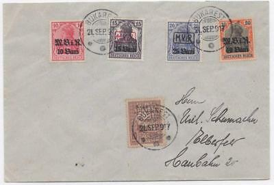 GERMANY/ROMANIA: Overprint Examples on Cover with Bucharest Cancels (11157)
