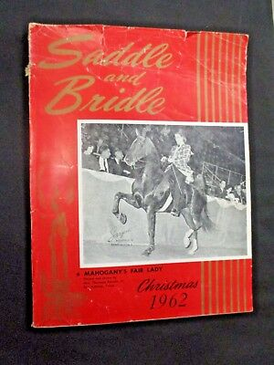 SADDLE AND BRIDLE Christmas 1962 Show Horse Women Equestrian Industry Magazine
