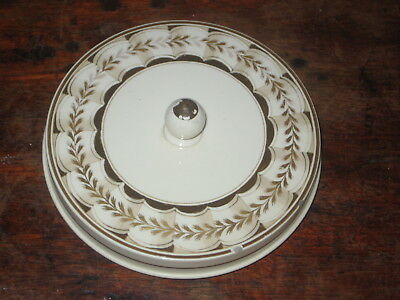 Old Creamware Lid Early 19Th Century