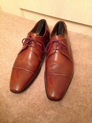 Paul Smith Robin Tan High Shine Shoes UK8 EU42 PS Formal £320.00