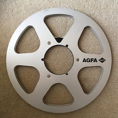 """AGFA reconditioned Reel to reel metal audio spool 1/4"""" x 10.5"""" ( without tape )"""