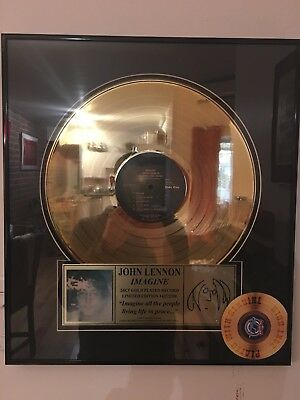 JOHN LENNON ''Imagine'' Gold LP-Limited Edition With Certificat Of Authenticity