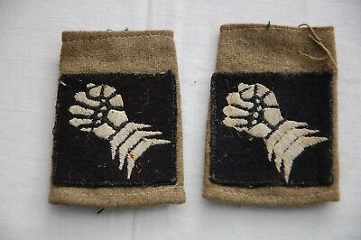 Pair WW2 British Army 6th Armoured Division Formation Epaulette Shoulder Titles