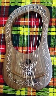 New Lyre Harp 10 Metal Strings Rosewood,Lyra Harps,Harfe,Arpa Free Carrying Case