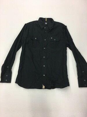 CAVI MEN'S Premium LONG SLEEVE SHIRT SIZE Large Rare Extremely Nice Black