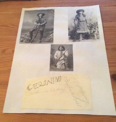Rare Buffalo Bill Geronimo Annie Oakley signatures with pictures William Cody