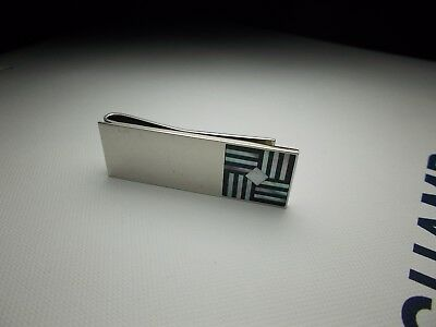 Vintage Mother of pearl & onyx Money clip by Duchamp London.
