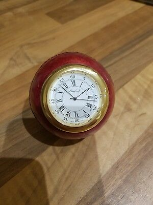 Cricket Ball Novelty Clock