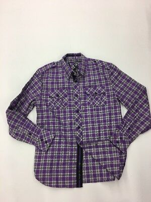 CAVI MEN'S Premium LONG SLEEVE SHIRT SIZE Large Rare Extremely Nice Purple