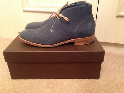 "Church Custom Grade Blue Suede Dessert Boots ""sahara"" With Box UK7F Great Cond"