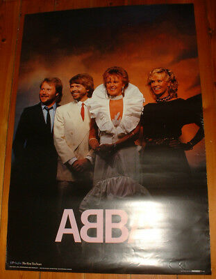 1982 vintage rare ABBA SCANDECOR POSTER THE SINGLES THE FIRST TEN YEARS Sweden