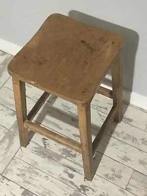Vintage Wooden Lab Stool