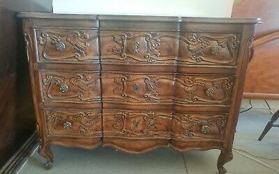 Henredon Four Centuries French Country Three Drawer Chest Dresser Console