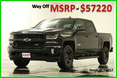 2017 Chevrolet Silverado 1500 MSRP$57220 4X4 LTZ Z1 GPS Midnight Sunroof Crew New Edition Heated Cooled Black Leather Seats Navigation Camera 16 2016 17 Cab 4