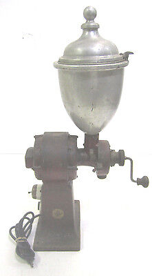 Vintage Cast Iron Valley Mill Commercial Electric Coffee Grinder Model 12S