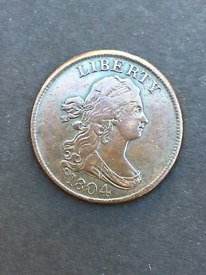 1804 half cent draped bust crosslet 4, with stems.  Beautiful 1/2 penny!
